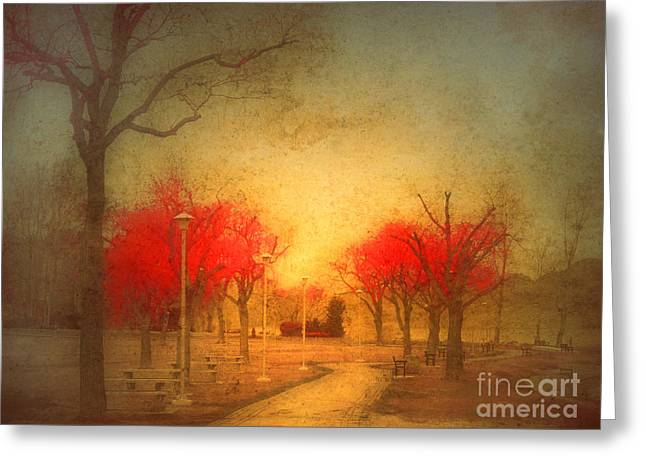 The Fire Trees Greeting Card