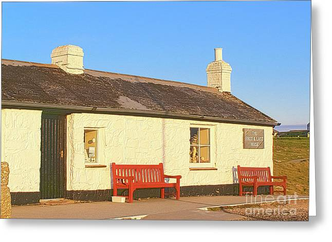The First And Last House In England Greeting Card by Terri Waters