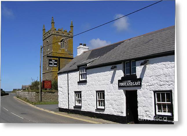 Greeting Card featuring the photograph The First And Last Inn In England by Terri Waters