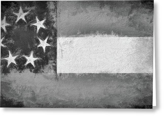 The First Confederate Flag Greeting Card by JC Findley