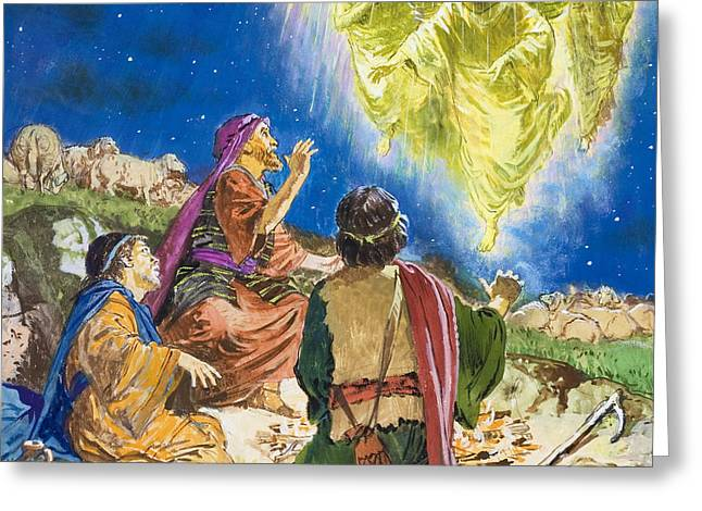 The First To Be Told About Jesus Greeting Card by Clive Uptton
