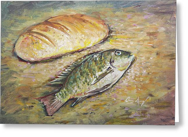 The Fish And The Bread Greeting Card