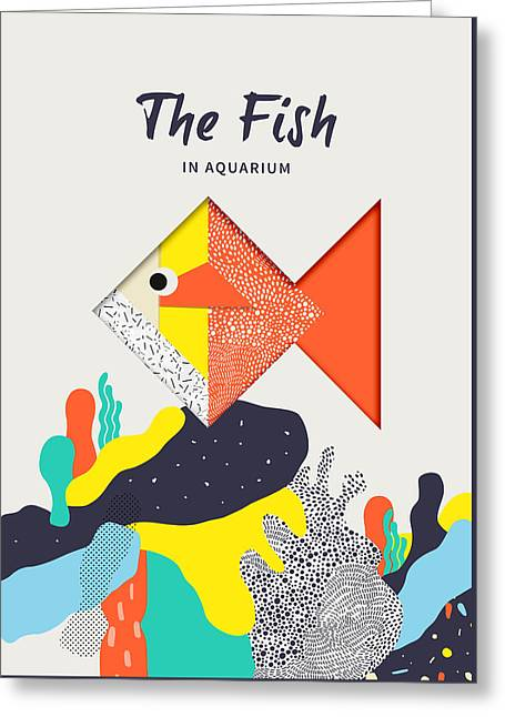 The Fish In Aquarium Greeting Card by BONB Creative