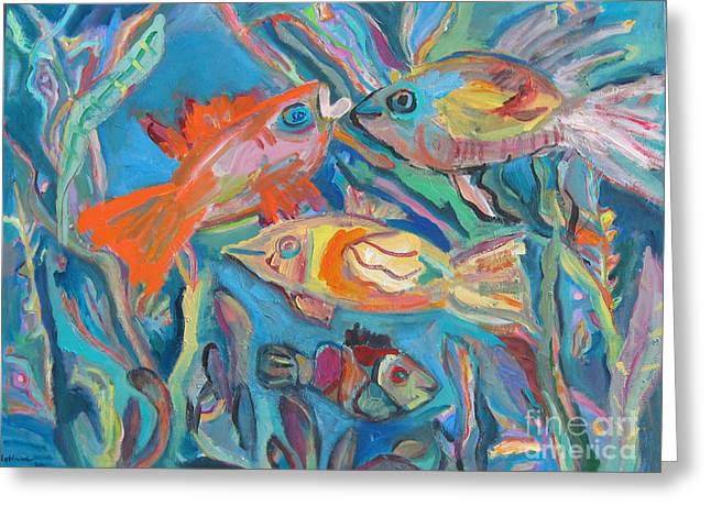 The Fish Greeting Card by Marlene Robbins