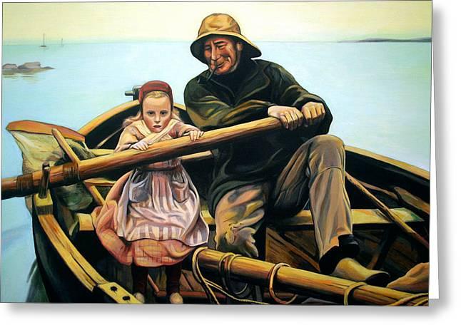 The Fisherman Greeting Card by Jose Roldan Rendon