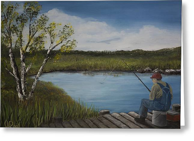 The Fishermen Greeting Card by John Reid