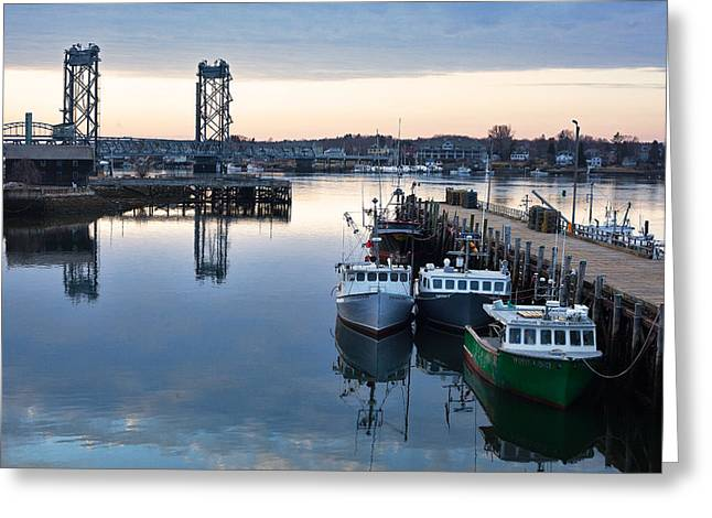 The Fishing Fleet - Portsmouth Greeting Card by Eric Gendron