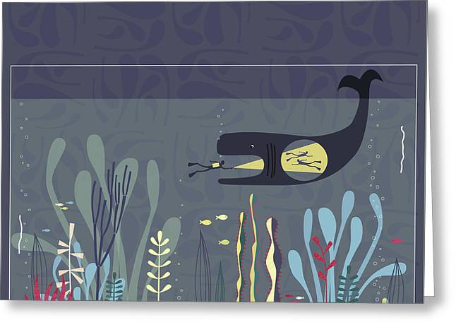 The Fishtank Greeting Card by Nic Squirrell