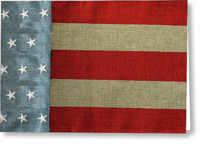 Greeting Card featuring the photograph The Flag by Tom Prendergast