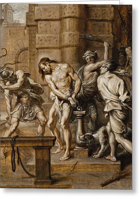 The Flagellation Greeting Card by Abraham Jansz van Diepenbeeck