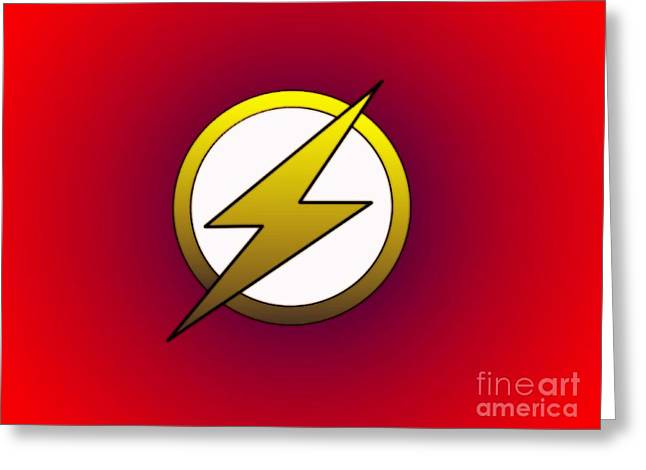The Flash  Greeting Card by Justin Moore