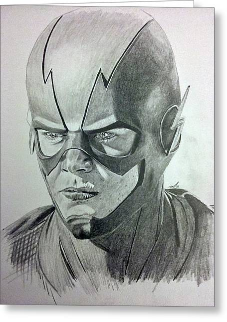 The Flash Greeting Card by Michael McKenzie