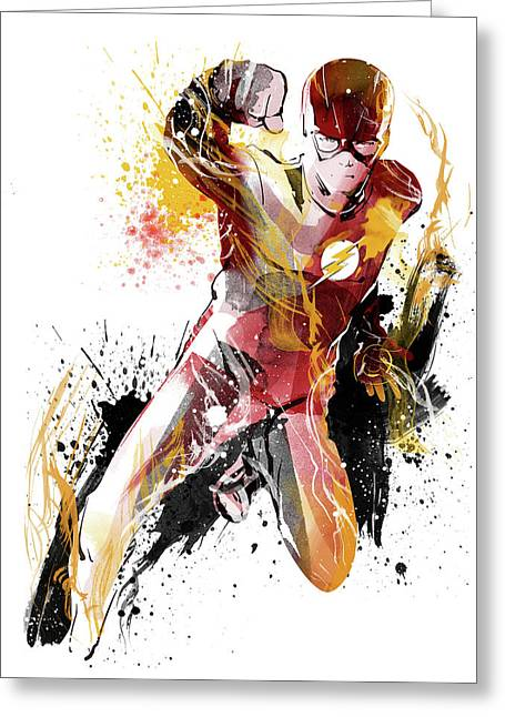 The Flash Greeting Card by Unique Drawing