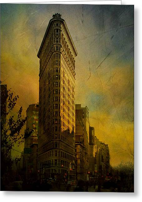 The Flat Iron Building - My Take On It Greeting Card by Jeff Burgess
