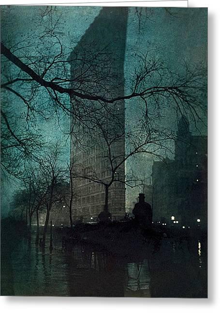 The Flatiron Building Greeting Card by Edward Steichen