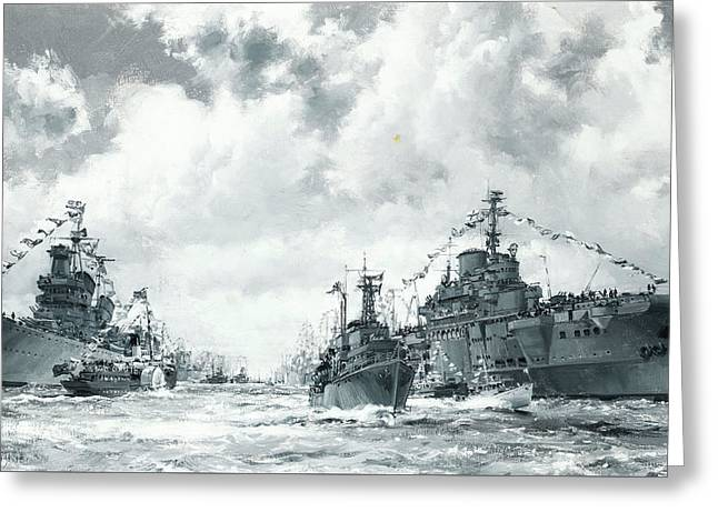 The Fleet At Spithead Greeting Card