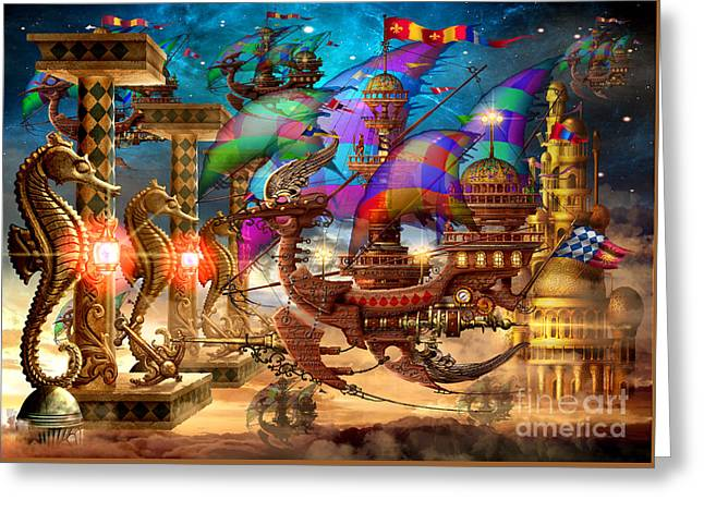 The Fleet Has Arrived Greeting Card by Ciro Marchetti