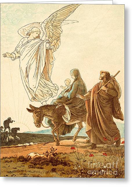 The Flight Into Egypt Greeting Card by Victor Paul Mohn