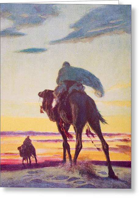 The Flight Of Muhammad To Medina By A Greeting Card