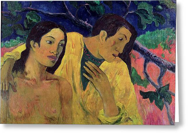 The Flight Greeting Card by Paul Gauguin