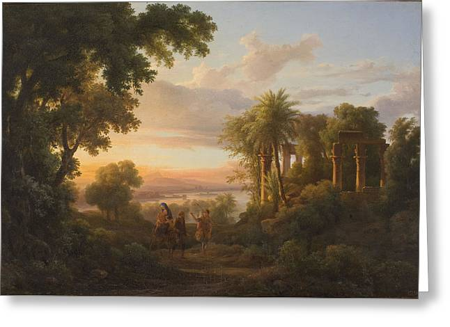 The Flight To Egypt Greeting Card by MotionAge Designs