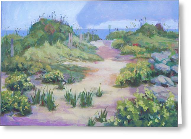 The Flip-flop Path To Paradise Greeting Card by Carol Strickland