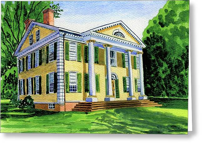 The Florence Griswold House In Old Lyme Ct. Greeting Card