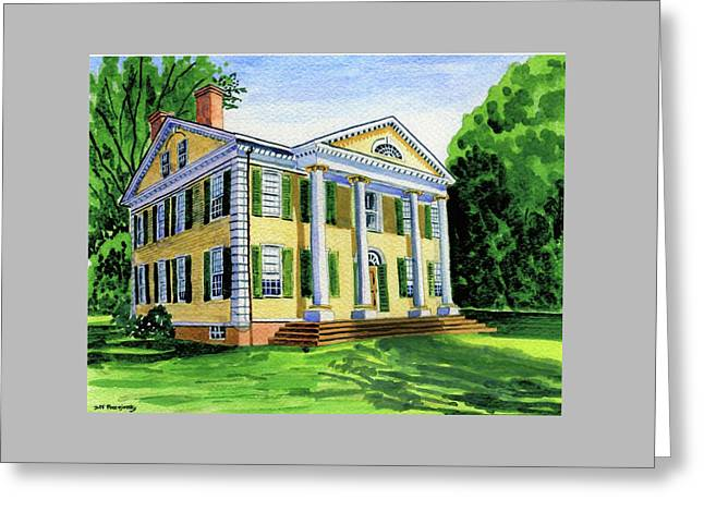 The Florence Griswold House In Old Lyme Ct. Greeting Card by Jeff Blazejovsky