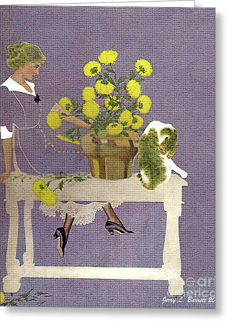 The Florist Greeting Card by Jerry L Barrett