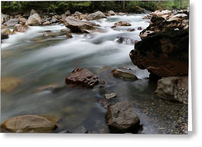 The Flow Of Serenity Greeting Card by Jeff Swan