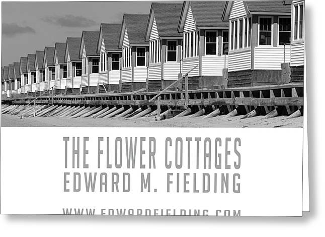 The Flower Cottages By Edward M. Fielding Greeting Card