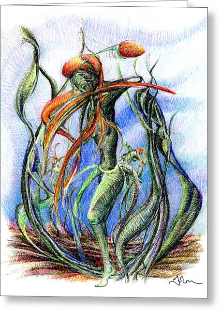 The Flower Dancing Greeting Card