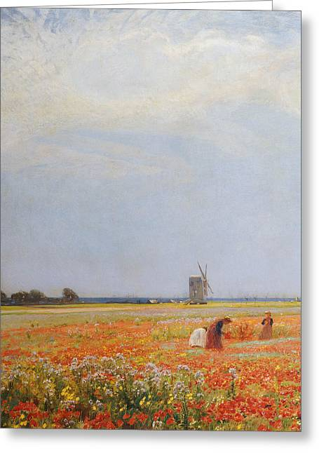 The Flower Pickers Greeting Card