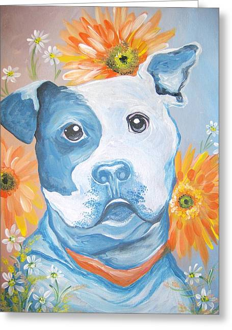 The Flower Pitt Greeting Card by Leslie Manley