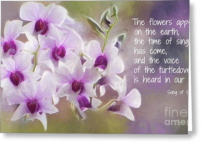 The Flowers Appear... Greeting Card