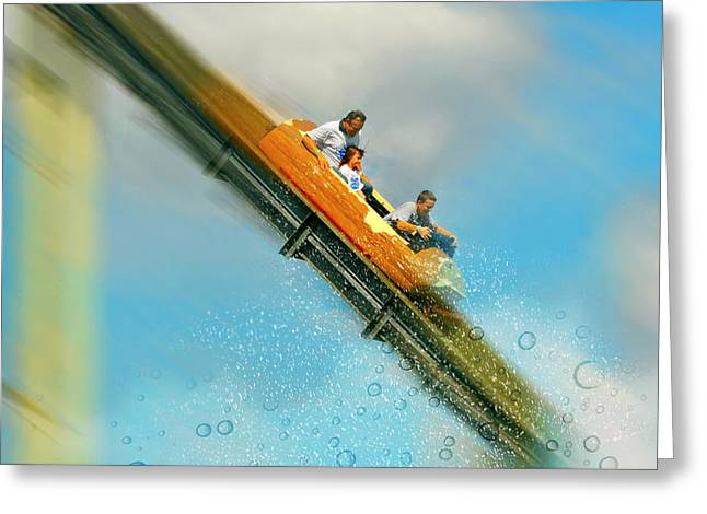 Greeting Card featuring the photograph The Flume by Diana Angstadt