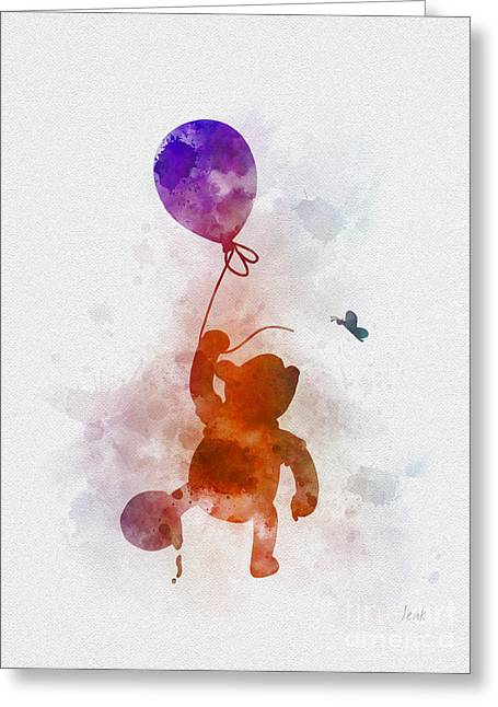 The Flying Bear Greeting Card