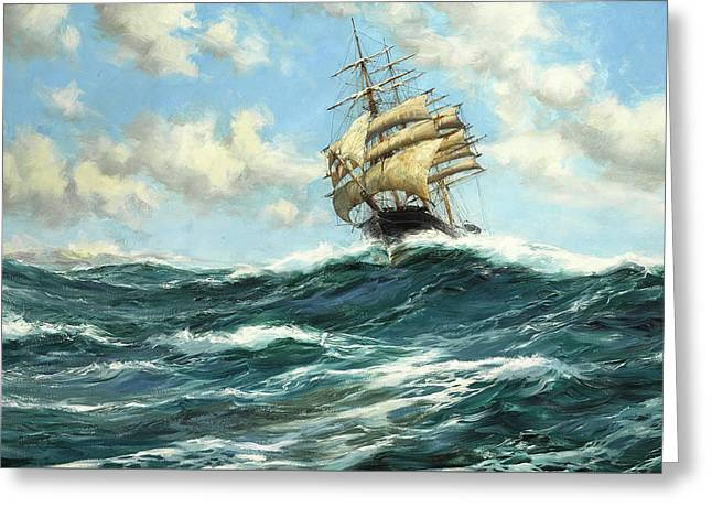 The Flying Clipper, Sir Lancelot Greeting Card by Montague Dawson