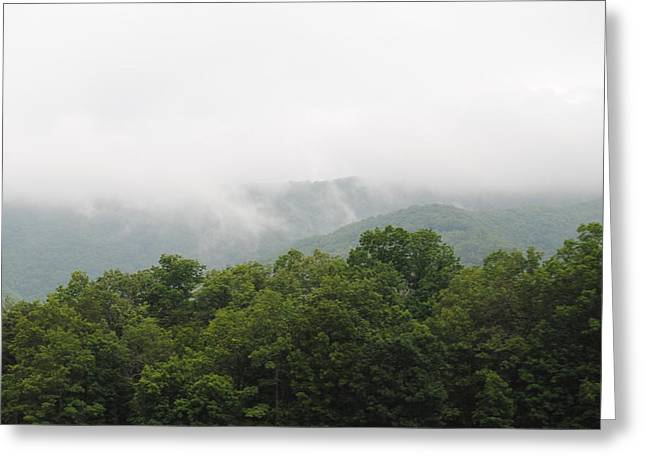 The Fog Greeting Card by Christopher Rohleder