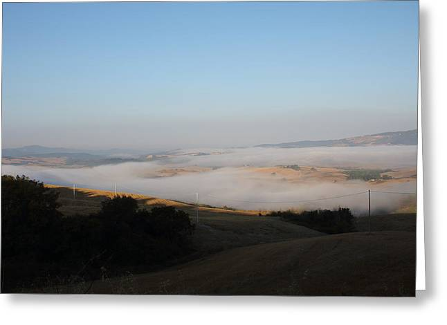The Fog In The Country Greeting Card