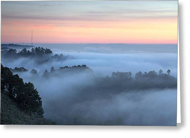 The Fog Kept On Rolling In Greeting Card