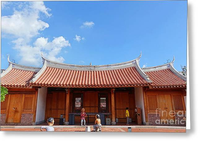 Greeting Card featuring the photograph The Fongyi Imperial Academy In Taiwan by Yali Shi