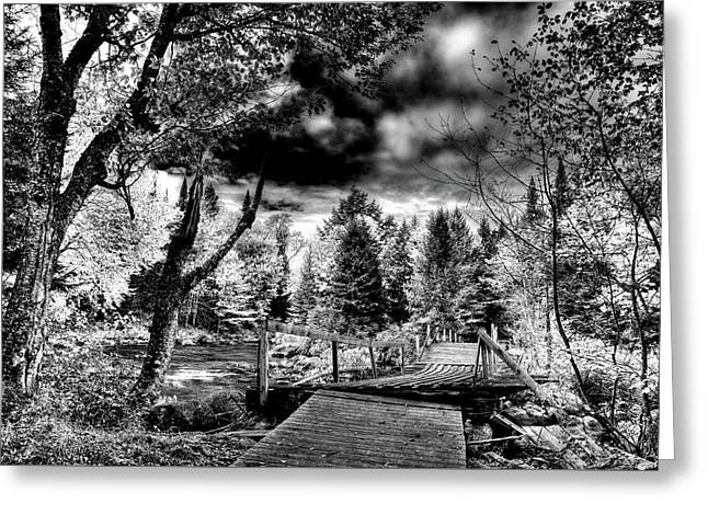 The Footbridge At Indian Rapids Greeting Card by David Patterson