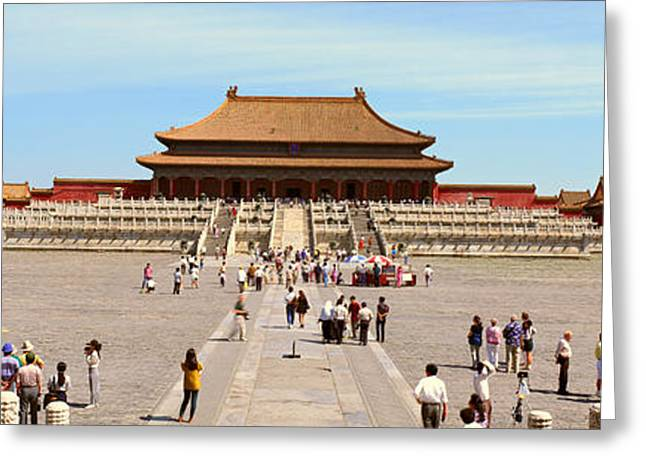 The Forbidden City - Tai He Dian Hall Greeting Card by Panoramic Images