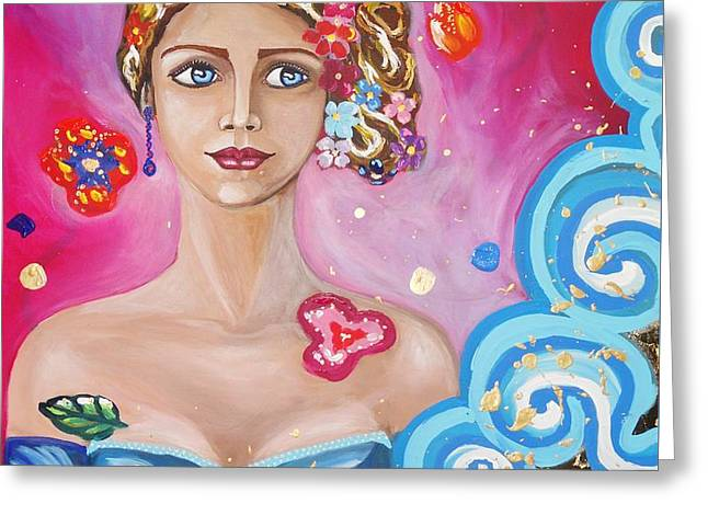 The Force Of Agatha. A Midnight Dream. Greeting Card by Fabiana Pasquale