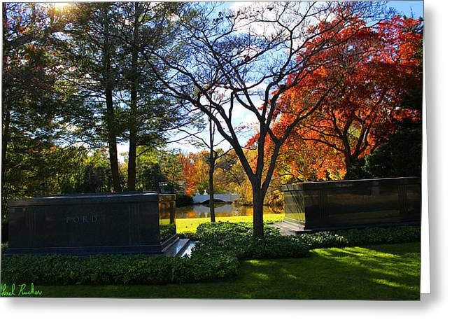 The Fords - Woodlawn Cemetery Greeting Card by Michael Rucker