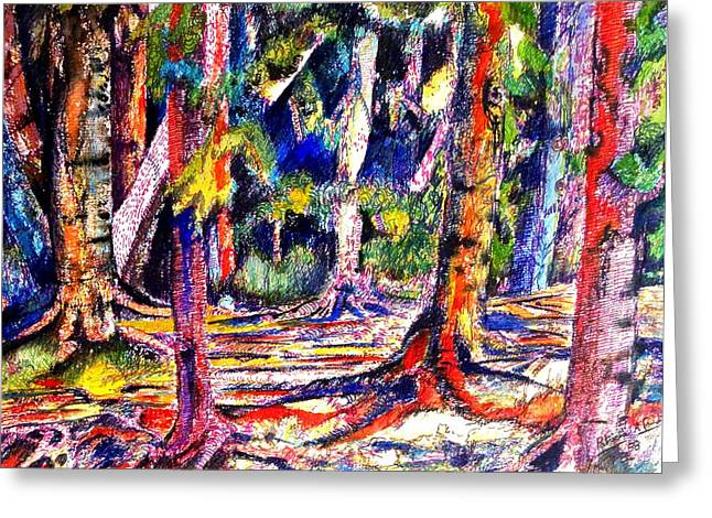 The Forest Before The Trees Greeting Card by Patricia Bigelow