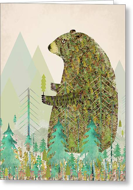 The Forest Keeper Greeting Card by Bri B