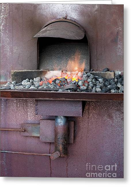 Greeting Card featuring the photograph The Forge by Linda Lees