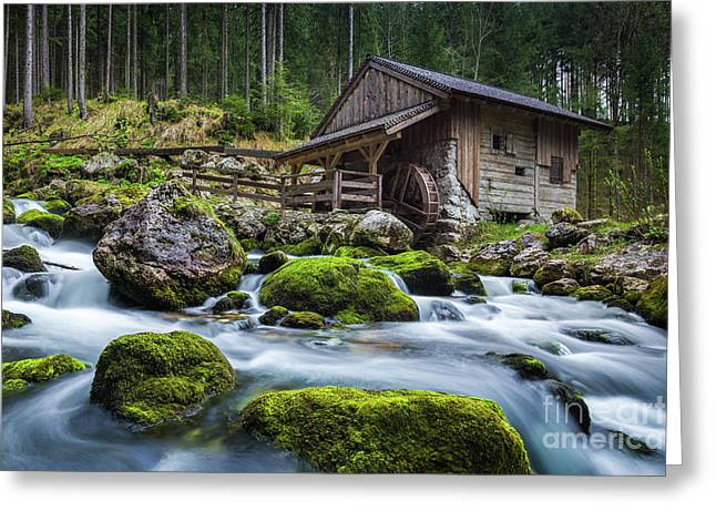The Forgotten Mill Greeting Card by JR Photography